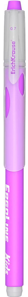 Erich Krause Ручка шариковая ErgoLine Kids цвет фиолетовый 4154041540Эргономичная шариковая ручка Erich Krause ErgoLine Kids станет незаменимым помощником в учебе или работе. Ручка с уникальной технологией Ultra Glide, обеспечивающей великолепное мягкое письмо, позволяет долго и легко писать практически без усилий. Треугольный корпус ручки со специальными выемками обеспечивает удобный захват и препятствует скольжению пальцев при письме. Товар предназначен для письма на бумаге. Рекомендована для дошкольников и школьников младшего возраста. Диаметр шарика 0,7 мм.