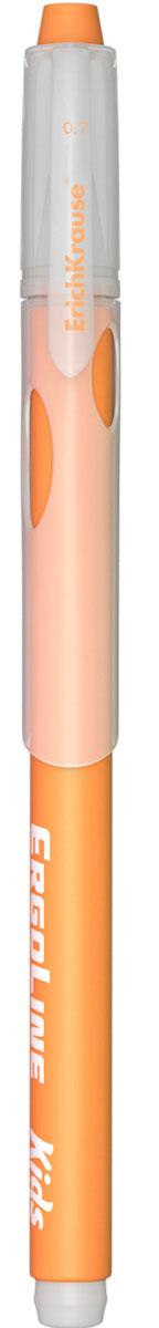 Erich Krause Ручка шариковая ErgoLine Kids цвет оранжевый 4154041540Эргономичная шариковая ручка Erich Krause ErgoLine Kids станет незаменимым помощником в учебе или работе. Ручка с уникальной технологией Ultra Glide, обеспечивающей великолепное мягкое письмо, позволяет долго и легко писать практически без усилий. Треугольный корпус ручки со специальными выемками обеспечивает удобный захват и препятствует скольжению пальцев при письме. Товар предназначен для письма на бумаге. Рекомендована для дошкольников и школьников младшего возраста. Диаметр шарика 0,7 мм.