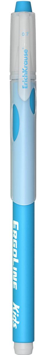 Erich Krause Ручка шариковая ErgoLine Kids цвет голубой 4154041540Эргономичная шариковая ручка Erich Krause ErgoLine Kids станет незаменимым помощником в учебе или работе. Ручка с уникальной технологией Ultra Glide, обеспечивающей великолепное мягкое письмо, позволяет долго и легко писать практически без усилий. Треугольный корпус ручки со специальными выемками обеспечивает удобный захват и препятствует скольжению пальцев при письме. Товар предназначен для письма на бумаге. Рекомендована для дошкольников и школьников младшего возраста. Диаметр шарика 0,7 мм.