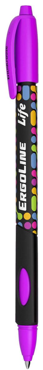 Erich Krause Ручка шариковая ErgoLine Life в блистере цвет фиолетовый 41542
