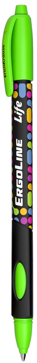 Erich Krause Ручка шариковая ErgoLine Life в блистере цвет зеленый 4154241544Эргономичная шариковая ручка в блистере с треугольным грипом и выемками для пальцев. D шарика 0.7 мм, толщина линии 0.35 мм.