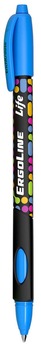 Erich Krause Ручка шариковая ErgoLine Life в блистере цвет голубой 4154241545Эргономичная шариковая ручка в блистере с треугольным грипом и выемками для пальцев. D шарика 0.7 мм, толщина линии 0.35 мм.