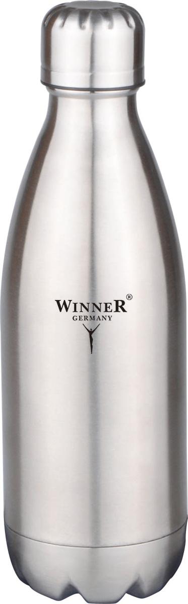 Термос-бутылка Winner, 0,5 л. WR-8200WR-8200500л, двойные стенки, крышка с винтовой пробкой. Состав: нержавеющая сталь.