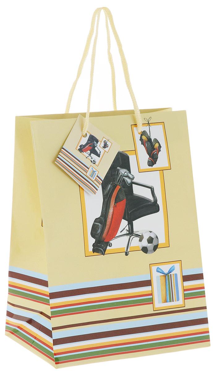 Пакет подарочный Феникс-Презент Увлечения, 17,8 х 9,8 х 22,9 смФ21-1430Подарочный пакет Феникс-Презент Увлечения, изготовленный из плотной бумаги, станет незаменимым дополнением к выбранному подарку. Дно изделия укреплено картоном, который позволяет сохранить форму пакета и исключает возможность деформации дна под тяжестью подарка. Пакет выполнен с глянцевой ламинацией, что придает ему прочность, а изображению - яркость и насыщенность цветов. Для удобной переноски имеются две текстильные ручки в виде шнурков. Подарок, преподнесенный в оригинальной упаковке, всегда будет самым эффектным и запоминающимся. Окружите близких людей вниманием и заботой, вручив презент в нарядном, праздничном оформлении.
