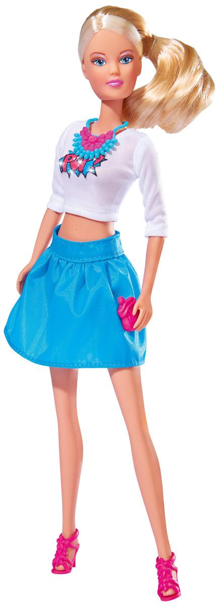 Simba Кукла Штеффи Pop Art цвет белый синий5736215_белый/голубойКукла Simba Штеффи. Pop Art - яркая и необычная игрушка, которая станет отличным подарком для девочек, увлеченных современным искусством. Модный наряд, состоящий из укороченного топа с принтом и юбки, необычные аксессуары смотрятся очень оригинально и стильно. Кукла изготовлена из прочного и безопасного материала. Ее голова, руки и ноги подвижны, что позволяет придавать ей разнообразные позы. Благодаря играм с куклой, ваша малышка сможет развить фантазию и любознательность, овладеть навыками общения и научиться ответственности, а дополнительные аксессуары сделают игру еще увлекательнее. Порадуйте свою принцессу таким прекрасным подарком!