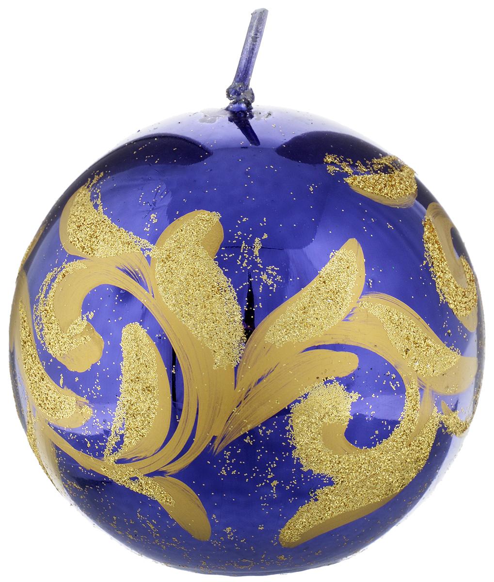 Свеча-шар Fem Флоренция, цвет: фиолетовый, золотой, диаметр 9 см0011/1917Свеча-шар Fem Флоренция изготовлена из парафина и декорирована изящным узором с блестками. Такая свеча станет изысканным украшением интерьера. Она принесет в ваш дом волшебство и ощущение праздника. Создайте в своем доме атмосферу веселья и радости, и тогда самый обычный день с легкостью превратится в торжество.