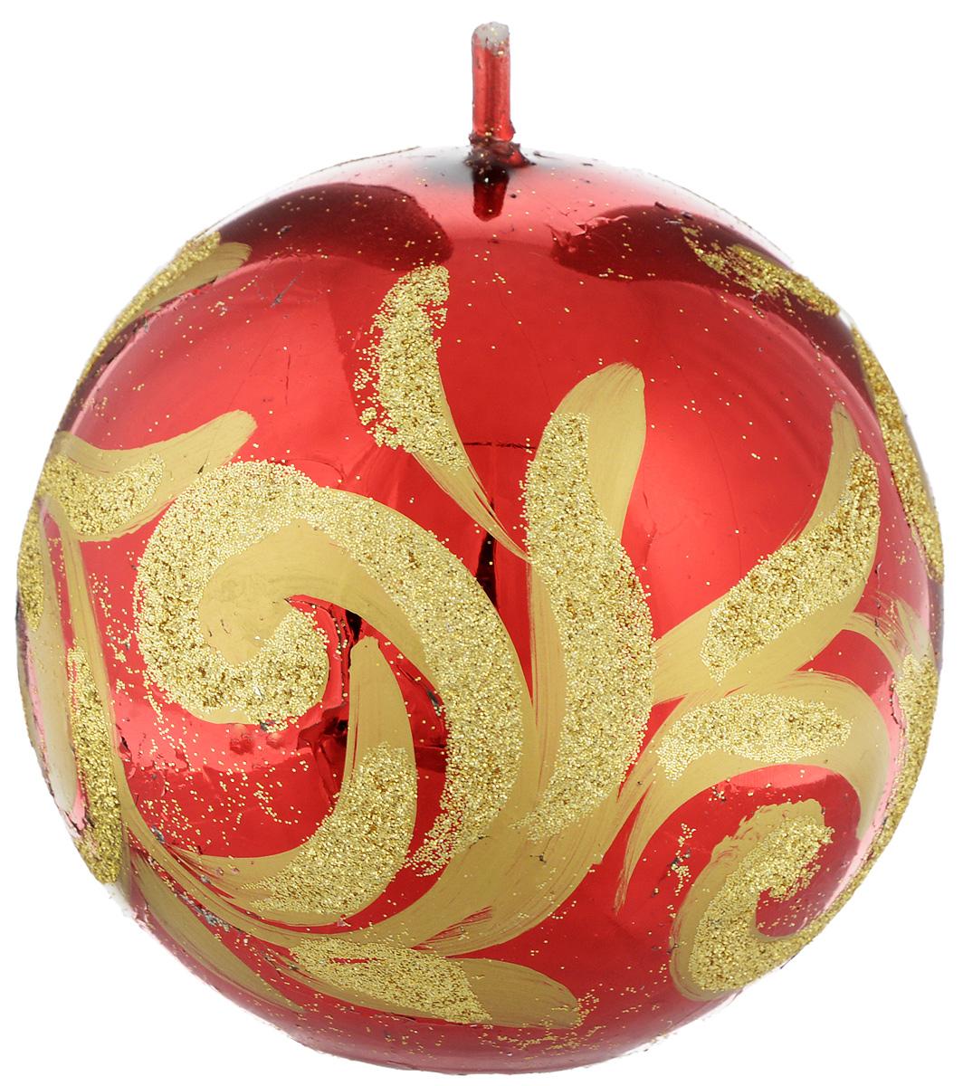 Свеча-шар Fem Флоренция, цвет: красный, золотой, диаметр 9 см0011/5127Свеча-шар Fem Флоренция изготовлена из парафина и декорирована изящным узором с блестками. Такая свеча станет изысканным украшением интерьера. Она принесет в ваш дом волшебство и ощущение праздника. Создайте в своем доме атмосферу веселья и радости, и тогда самый обычный день с легкостью превратится в торжество.