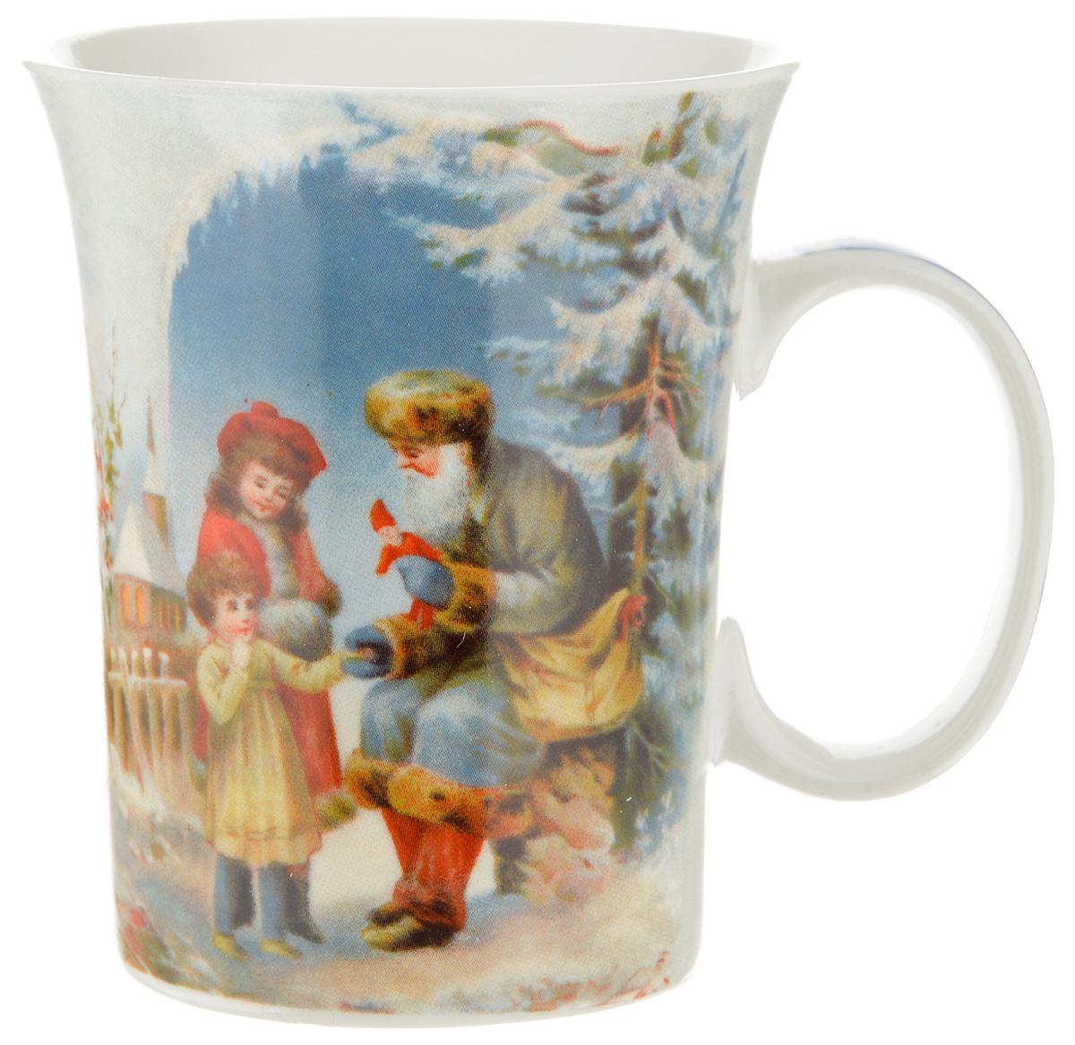 Кружка Lillo Дед Мороз и дети, 350 мл216041_дед Мороз и детиКружка Lillo Дед Мороз и дети выполнена из высококачественной керамики с глазурованным покрытием. С внешней стороны изделие декорировано красивым новогодним рисунком. Такая кружка станет приятным подарком к Новому Году и согреет вас холодными зимними вечерами. Диаметр (по верхнему краю): 8,5 см. Высота кружки: 10,5 см.