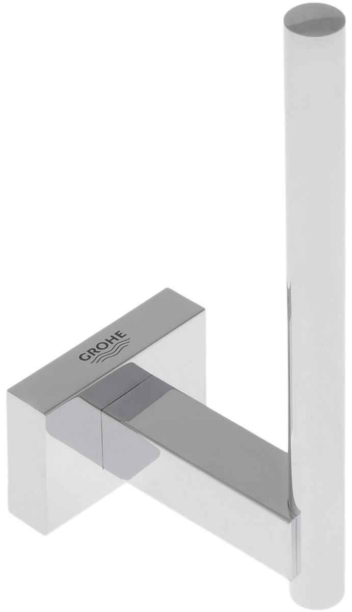 Держатель для запасного рулона туалетной бумаги Grohe Essentials Cube, 6 х 4,3 х 12 см40623001Держатель Grohe Essentials Cube предназначен специально для запасного рулона туалетной бумаги. Изделие выполнено из высококачественного металла и имеет скрытое крепление. Благодаря строгому и лаконичному дизайну, а также ослепительному хромированному покрытию StarLight он будет великолепно смотреться в интерьере вашей ванной комнаты долгие годы.