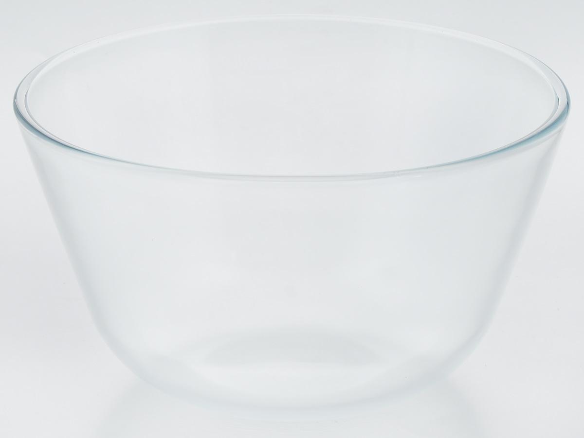 Миска VGP, цвет: прозрачный, 3 л740Миска VGP изготовлена из термостойкого и экологически чистого стекла. Предназначена для приготовления пищи в духовке, жарочном шкафу и микроволновой печи. Миска прекрасно подойдет для хранения и замораживания различных продуктов, а также для сервировки и декоративного оформления праздничного стола. Миска VGP станет незаменимым аксессуаром на кухне для любой хозяйки. Можно мыть в посудомоечной машине. Высота стенки: 13 см. Диаметр миски (по верхнему краю): 22,5 см.