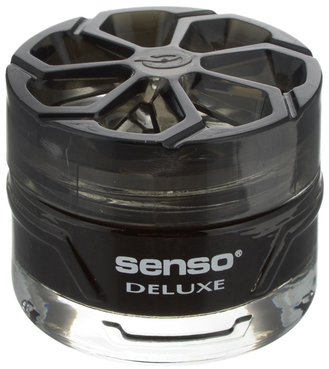 Ароматизатор автомобильный Dr.Marcus Senso Deluxe. Black, гелевый, 50 мл37016Ароматизатор автомобильный Dr.Marcus Senso Deluxe. Black эффективно устраняет неприятные запахи и придает легкий приятный аромат. Сочетание формулы геля с парфюмами наилучшего качества обеспечивает устойчивый запах. Кроме того, ароматизатор обладает элегантным дизайном, поэтому будет гармонично смотреться в салоне любого автомобиля. Благодаря удобной конструкции, его можно установить в любое место, например, на панель, под сиденье или в двери. Чтобы закрепить ароматизатор, необходимо использовать вложенный пластырь. Рекомендуется наклеивать пластырь на чистую поверхность. Ароматизатор имеет продолжительный срок службы - до 75 дней. Его можно использовать не только в автомобиле, но и в домашних условиях.