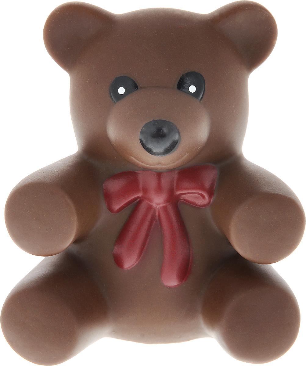 """Игрушка для собак Ziver """"Медвежонок"""", с пищалкой, цвет: коричневый, высота 8 см 40.ZV.061_коричневый"""