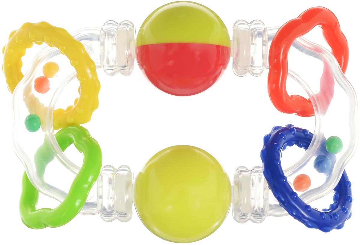 Умка Погремушка с шарикамиU04-RПогремушка с шариками Умка отлично подойдет для раннего развития ребенка. Она выполнена в ярких и привлекательных цветах, так что обязательно привлечет внимание малыша. Стоит отметить ее стильный и запоминающийся дизайн: изделие выполнено в виде овала, на котором расположились два небольших шара и две пары разноцветных колечек. В прозрачном корпусе свободно катаются миниатюрные шарики, которые весело гремят. С такой игрушкой ребенок легко разовьет слуховое и зрительное восприятия. Игрушка рекомендована детям от трех месяцев.