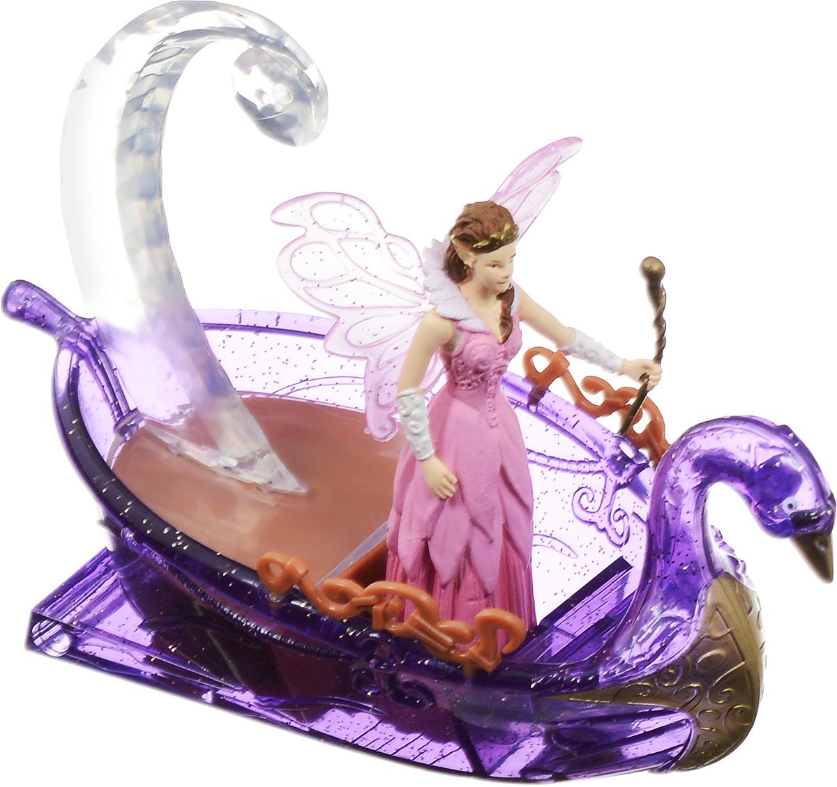 Simba Фигурка Фея в лодке4414474Этот набор из серии Magic Fairies состоит из фигурки волшебной красавицы-феи и ее лодки. У лодки имеются световые эффекты. Такая игрушка не только поможет малышке развить фантазию и воображение, но и перенесет ее в мир волшебства и сказочных фей. Рекомендуется докупить 2 батарейки напряжением 1,5V типа LR44 (товар комплектуется демонстрационными).