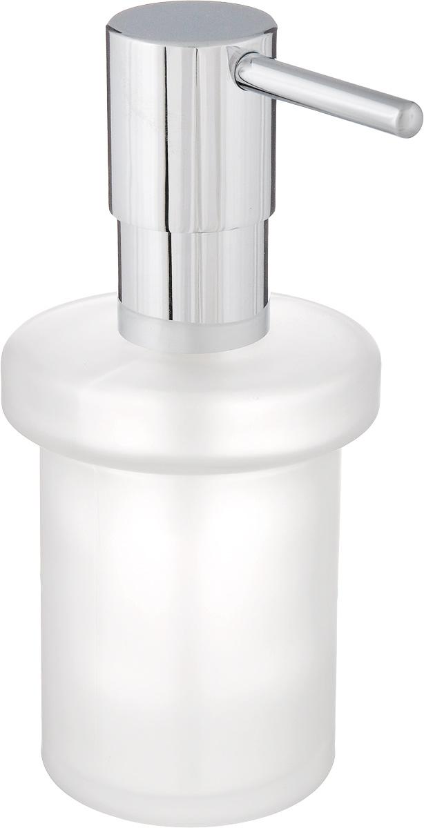 Диспенсер для жидкого мыла Grohe Essentials, 200 мл40394001Диспенсер для жидкого мыла Grohe Essentials изготовлен из высококачественного матового стекла. Дозатор выполнен из прочного металла с хромированным покрытием StarLight. Диспенсер очень удобен в использовании, достаточно лишь перелить жидкое мыло в емкость, а когда необходимо использование мыла, легким нажатием выдавить нужное количество. Диспенсер для жидкого мыла Grohe Essentials стильно украсит интерьер, а также добавит в обычную обстановку модный акцент.