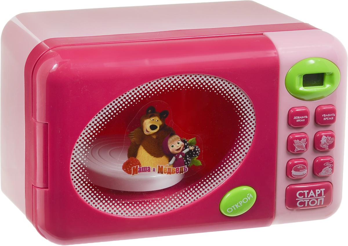 Играем вместе Игрушечная микроволновая печь Маша и МедведьHK542677Игрушечная микроволновая печь Играем вместе Маша и Медведь совсем как настоящая. Она займет достойное место на детской кухне. Положите в нее игрушечный гамбургер, выставьте время на таймере - оно отобразится на дисплее, и ждите. Или подсматривайте в окошко, как игрушечный гамбургер крутится на тарелочке в микроволновке. Для работы игрушки необходимы 3 батарейки типа АА напряжением 1,5V (не входят в комплект).