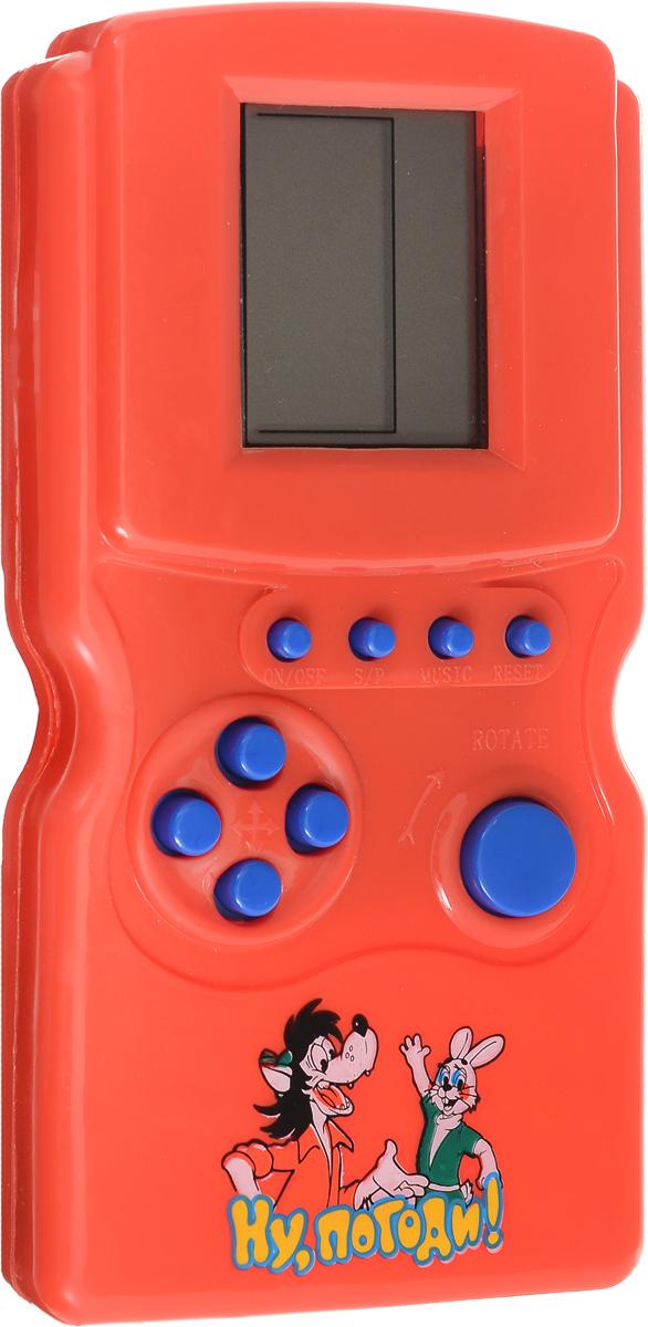 Играем вместе Тетрис Ну, погоди! 12 в 1 цвет красныйA695-H05009-RКаждый ребенок знаком с игрой Тетрис, а теперь он сможет носить любимую игру везде с собой! На лицевой стороне игрушки расположено 10 кнопок. Вверху находятся кнопки настроек, а внизу кнопки управление. В этой электронной игрушке десятки уровней сложности, которые захватят интерес малыша надолго. Электронная игра Играем вместе Тетрис поможет вашему малышу развить внимание и реакцию, а также поднимет ребенку настроение и успокоит перед сном. Рекомендуется докупить 2 батарейки напряжением 1,5V типа АA (в комплект не входят).