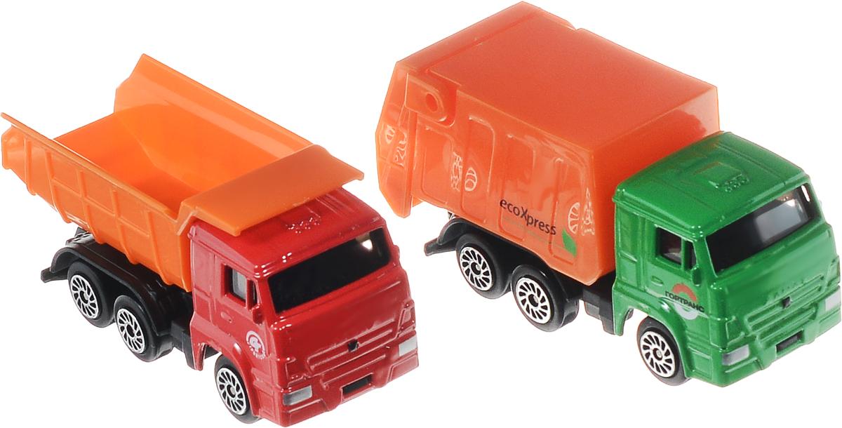 ТехноПарк Набор машинок КамАЗSB-15-21Набор машинок ТехноПарк КамАЗ станет любимой игрушкой вашего малыша. В набор входит мусоровоз и грузовик. Колеса машинок свободно вращаются. Они имеют яркие цвета и реалистичный дизайн, благодаря чему ваш ребенок сможет почувствовать себя настоящим водителем этого мощного транспорта. Ваш малыш будет часами играть с этими машинками, придумывая различные истории. Порадуйте его таким замечательным подарком!