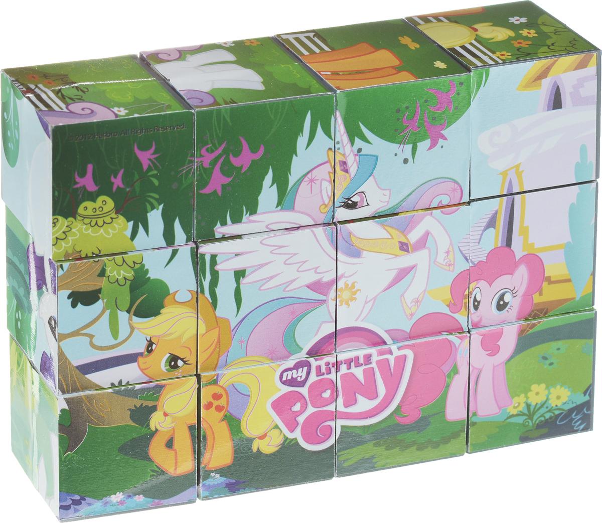 Играем вместе Кубики My Little Pony01112С помощью двенадцати кубиков Играем вместе My Little Pony ребенок сможет собрать целых шесть красочных картинок с изображением сюжетов из любимого мультфильма. Кубики - самая популярная и самая необходимая игрушка для малыша. Игра с кубиками развивает зрительное восприятие, наблюдательность и внимание, мелкую моторику рук и произвольные движения. Ребенок научится складывать целостный образ из частей, определять недостающие детали изображения. Это прекрасный комплект для развлечения и времяпрепровождения с пользой для малыша.