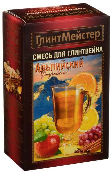 ГлинтМейстер набор для глинтвейн альпийский, 44 гбви015Этот согревающий зимний напиток любое ненастье способен превратить в праздник! А бокал для глинтвейна дополнит это ощущение. Подарите хорошее настроение своим близким! ПЕРВЫЙ на российском рынке набор для глинтвейна, который предлагается готовить на основе белого вина. Такие глинтвейны изредка можно встретить в барах Австрии и в барах других европейских стран. 3 балла по шкале интенсивности аромата. Акцент в аромате на корицу. Оригинальный рецепт не имеющий аналогов на российском рынке.
