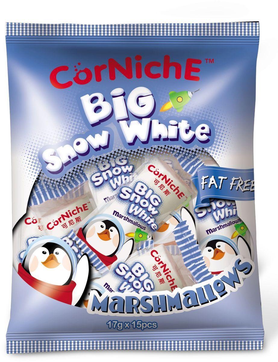 Corniche Marshmallows большой снежок, 255 гифи040Поедем на пикник, будем жарить зефир на костре - эта загадочная фраза именно о маршмеллоу – воздушном жевательном зефире, который можно растапливать на огне и в горячем кофе/какао/шоколаде. Кусочек мягкого, ароматного зефира имеет такую форму, чтобы ее было удобно надеть на палочку и протянуть к огню. Снаружи у него образуется тонкая корочка, а внутри бушует маленькое море растопленного зефира. Как использовать - для пикников и вечерних посиделок у костра, в качестве топпинга к мороженому, пудингу, фруктовым салатам. Как ароматная добавка к кофе, какао, горячему шоколаду, для приготовления домашней мастики и украшения тортов.