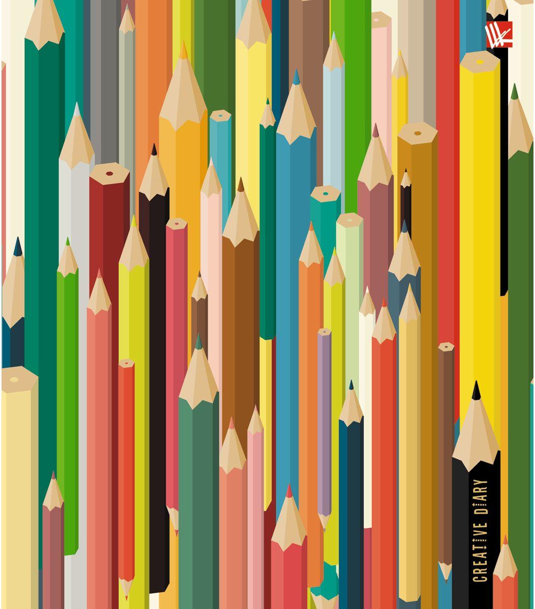 Канц-Эксмо Ежедневник Графика Цветные карандаши недатированный 128 листовЕЖИ17512802Ежедневник в гибкой обложке 164x247 мм недатированный с раскрасками-антистресс , 128 листов. Обложка с матовой ламинацией, форзацы тонированные. Внутренний блок с раскрасками на некоторых листах. Бумага офсет 70 г/м2, белая