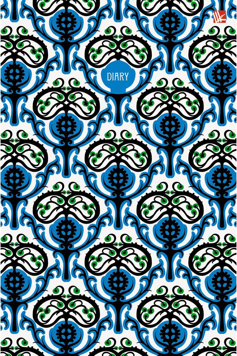 Канц-Эксмо Ежедневник Орнамент Ярко-синий узор недатированный 152 листа формат А5ЕЖЛ17515207Ежедневник недатированный в твердой обложке формата А5, 152 листа. Обложка с матовой ламинацией и выборочным лакированием. Форзацы - карты России/мира. Бумага офсет 60 г/м2, белая, однокрасочная печать. Обширный справочный материал: календарь на 4 года, таблицы мер, весов, размеров, условных обозначений, часовые пояса, коды регионов и др.