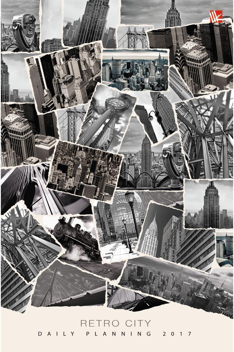 Канц-Эксмо Ежедневник Офисный стиль Городские архивы 2017 датированный 176 листов формат А5ЕЖЛ17517610Ежедневник датированный в твердой обложке формата А5, 176 листов. Обложка с матовой ламинацией и выборочным лакированием, форзацы - карта России/мира, бумага офсет 60 г/м2, белая, однокрасочная печать. Обширный справочный материал: календарь на 4 года, таблицы мер, весов, размеров, условных обозначений, часовые пояса, коды регионов и др.