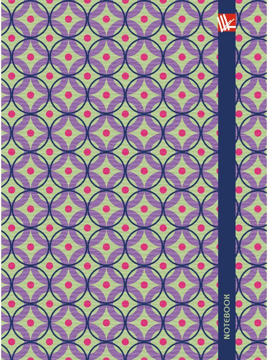 Канц-Эксмо Записная книжка Орнамент Яркие моменты 64 листа в клетку