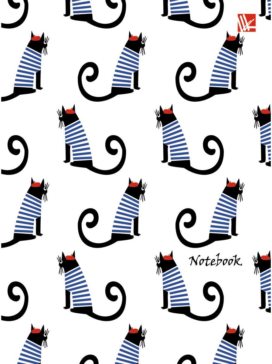 Канц-Эксмо Записная книжка Графика Коты в тельняшках 64 листа в клеткуЕТИ66420Записная книжка в гибком переплете А6, 64 листа. Обложка с глянцевой ламинацией. Форзацы белые. Бумага – офсет 60 г/м2, белая, клетка. Сшитый блок.