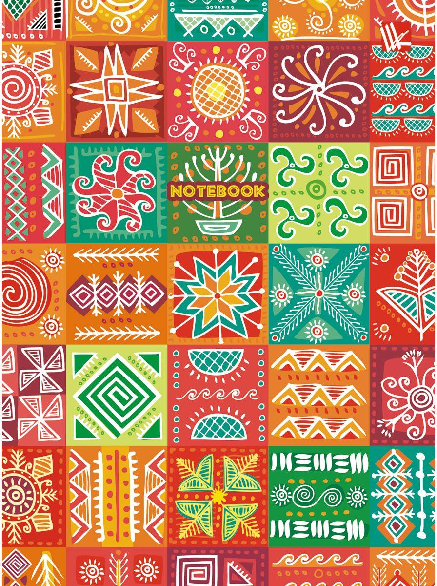 Канц-Эксмо Записная книжка Орнамент Яркая мозаика 64 листа в клетку