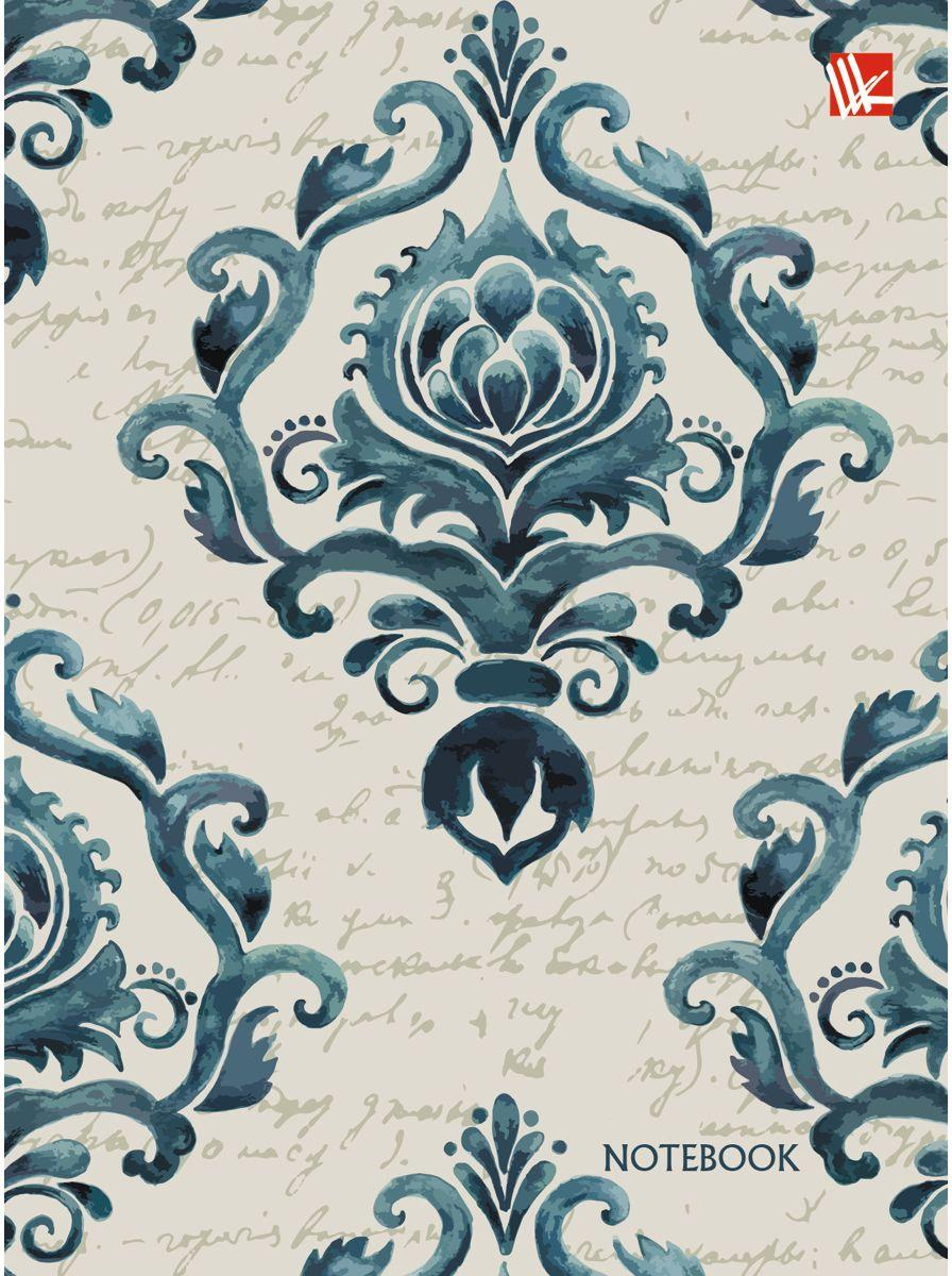 Канц-Эксмо Записная книжка Винтажный орнамент 96 листов в клетку