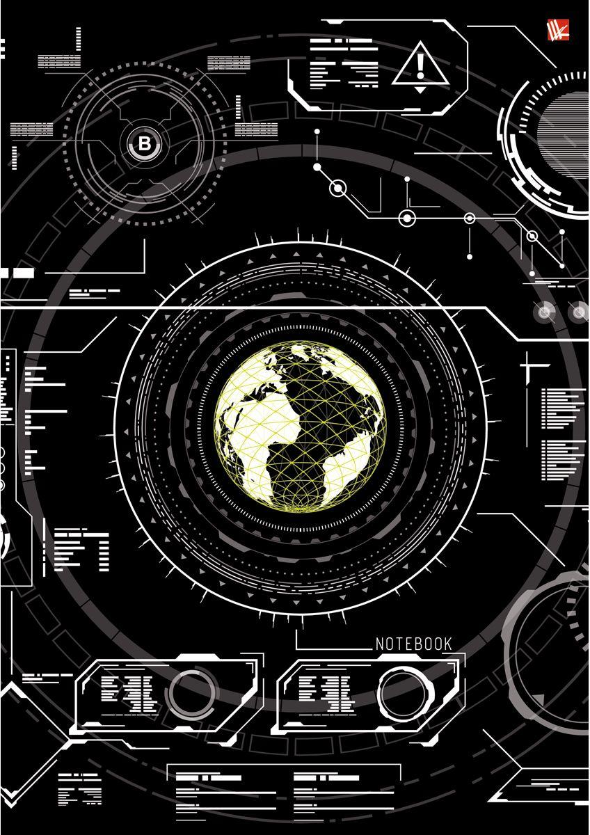 Канц-Эксмо Записная книжка Офисный стиль Хай-тек 100 листов в клеткуКЗ41001937Записная книжка в твердом переплете А4, 100 листов. Обложка с глянцевой ламинацией. Бумага – офсет 60 г/м2, белая, клетка. Сшитый блок.