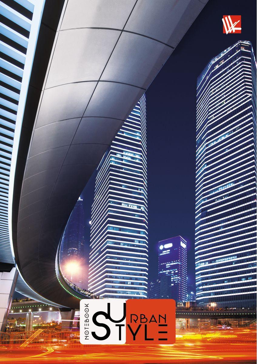 Канц-Эксмо Записная книжка Городской стиль Ночной мегаполис 64 листа в клетку