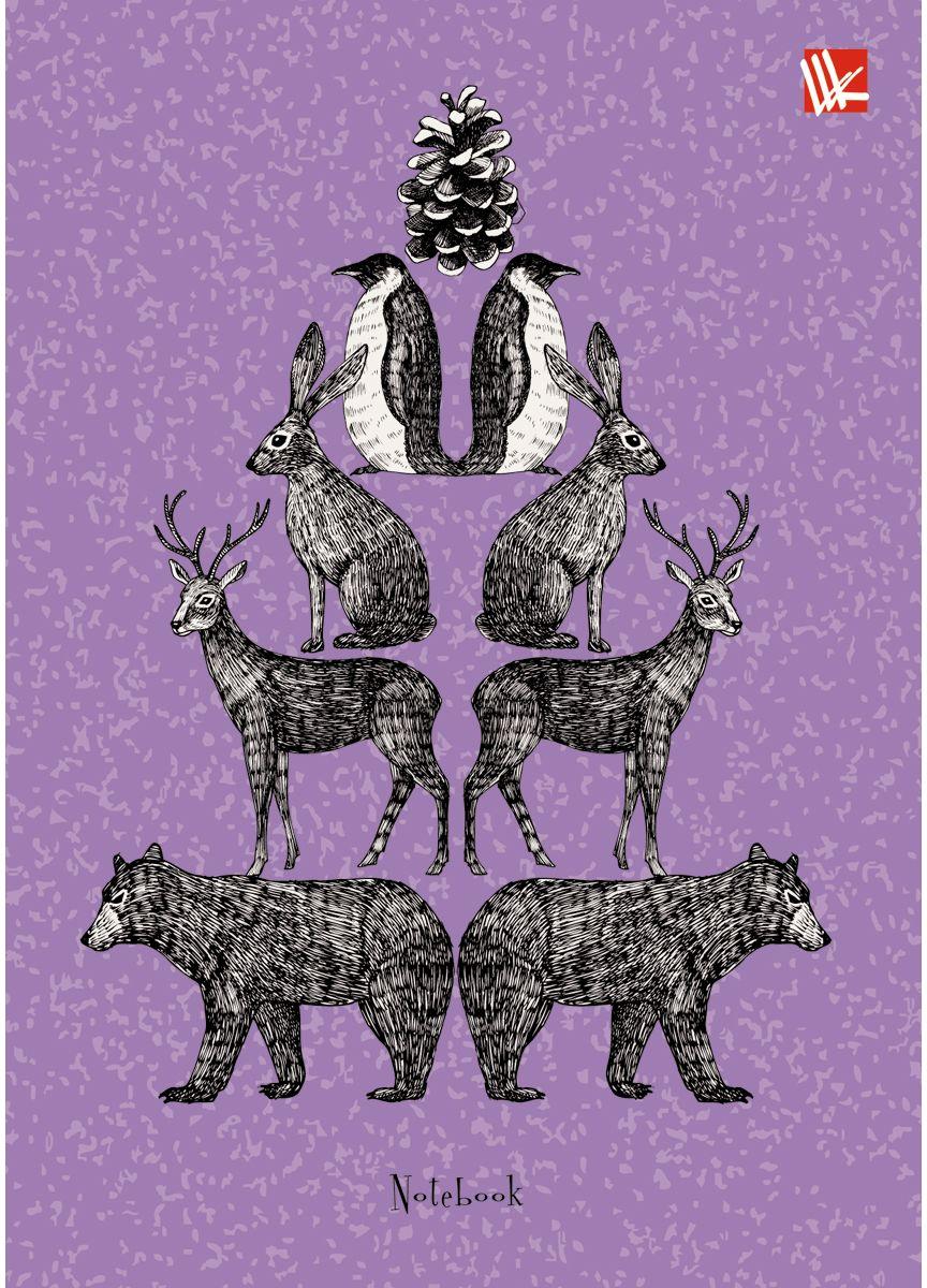 Канц-Эксмо Записная книжка Графика Животные 80 листов в клеткуКЗ6802165Записная книжка в твердом переплете А6, 80 листов. Обложка с глянцевой ламинацией. Форзацы белые. Бумага – офсет 60 г/м2, клетка. Сшитый блок.