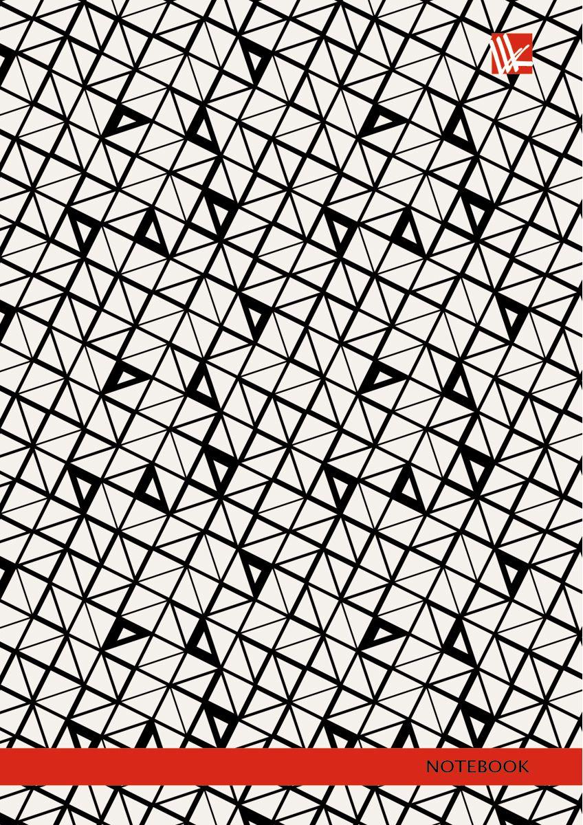 Канц-Эксмо Записная книжка Офисный стиль Графический узор 96 листов в клеткуКЗ6962185Записная книжка в твердом переплете А6, 96 листов. Обложка с глянцевой ламинацией. Форзацы белые. Бумага – офсет 60 г/м2, клетка. Сшитый блок.
