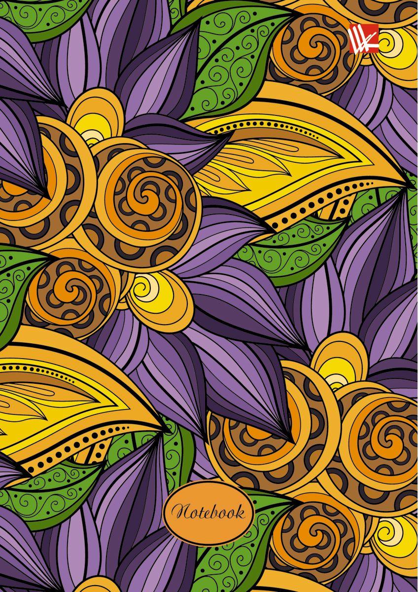 Канц-Эксмо Записная книжка Цветы Волшебные краски 96 листов в клеткуКЗ6962193Записная книжка в твердом переплете А6, 96 листов. Обложка с глянцевой ламинацией. Форзацы белые. Бумага – офсет 60 г/м2, клетка. Сшитый блок.