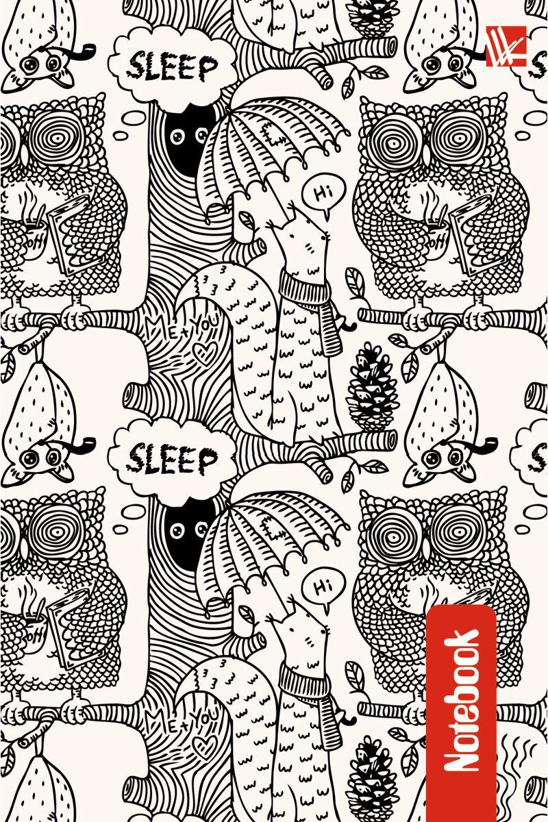 Канц-Эксмо Записная книжка Графика Забавные звери 96 листов в клеткуКЗ6962197Записная книжка в твердом переплете А6, 96 листов. Обложка с глянцевой ламинацией. Форзацы белые. Бумага – офсет 60 г/м2, клетка. Сшитый блок.