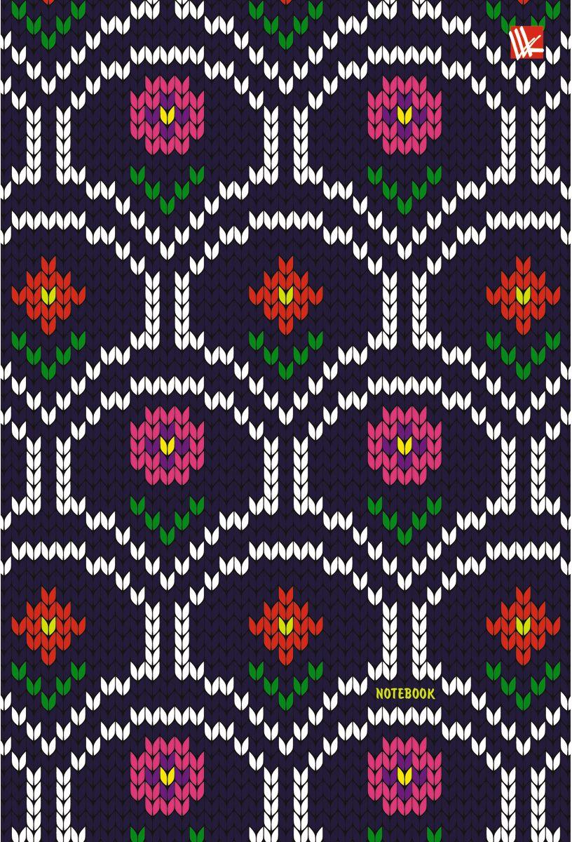 Канц-Эксмо Записная книжка Орнамент Вязаные цветы 80 листов в клеткуКЗЛ5802036Записная книжка в твердом переплете с поролоном А5- (132х186), 80 листов. Обложка с матовой ламинацией, выборочным лакированием и блестками. Форзацы цветные. Бумага – офсет 70 г/м2, белая, клетка. Сшитый блок.