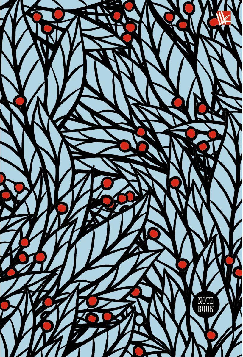 Канц-Эксмо Записная книжка Орнамент Красные ягоды 80 листов в клеткуКЗЛ5802039Записная книжка в твердом переплете с поролоном А5- (132х186), 80 листов. Обложка с матовой ламинацией, выборочным лакированием и блестками. Форзацы цветные. Бумага – офсет 70 г/м2, белая, клетка. Сшитый блок.