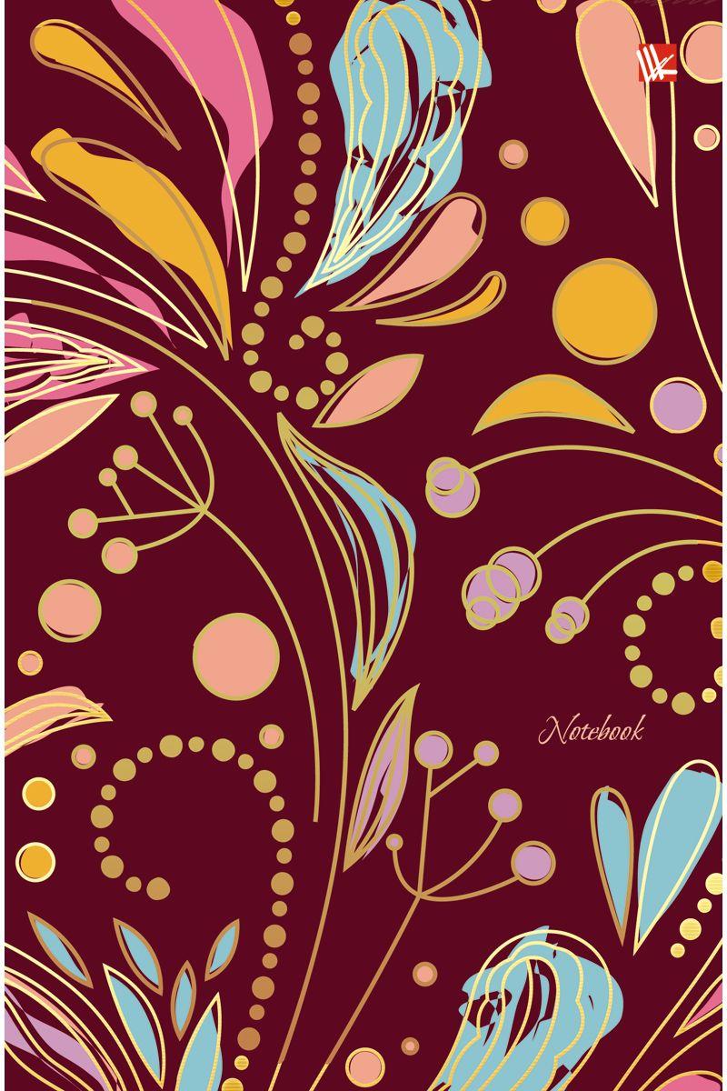 Канц-Эксмо Записная книжка Орнамент Волшебные цветы 100 листов в клеткуКЗФ51002021Записная книжка в твердом переплете А5, 100 листов. Обложка с матовой ламинацией и тиснением фольгой. Форзацы тонированные. Бумага – офсет 60 г/м2, белая, клетка. Сшитый блок.