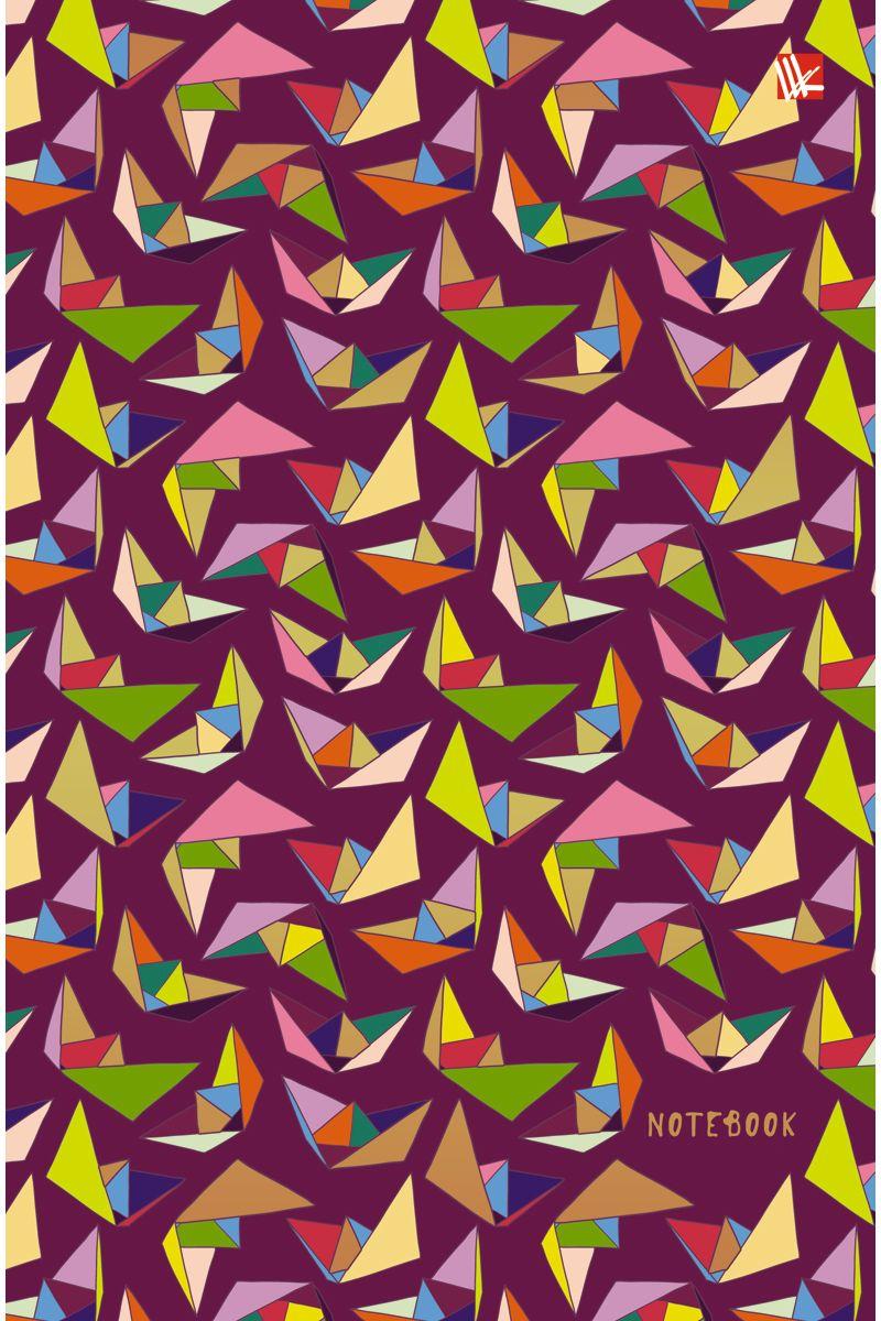 Канц-Эксмо Записная книжка Орнамент Оригами 100 листов в клеткуКЗФ51002024Записная книжка в твердом переплете А5, 100 листов. Обложка с матовой ламинацией и тиснением фольгой. Форзацы тонированные. Бумага – офсет 60 г/м2, белая, клетка. Сшитый блок.