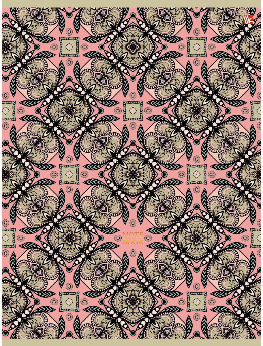 Канц-Эксмо Тетрадь Орнамент Нежные узоры 96 листов в клеткуТБ4964243Тетрадь А4 96 листов на скрепке, клетка. Обложка мелованный картон с выборочным лакированием и блестками, бумага офсет 60г/м2