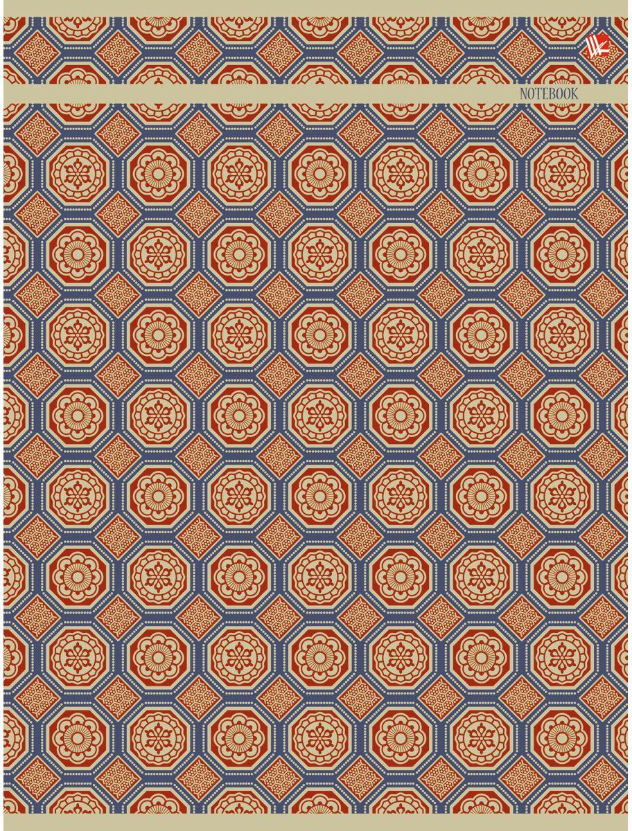 Канц-Эксмо Тетрадь Орнамент Золотая мозаика 96 листов в клеткуТБ4964245Тетрадь А4 96 листов на скрепке, клетка. Обложка мелованный картон с выборочным лакированием и блестками, бумага офсет 60г/м2