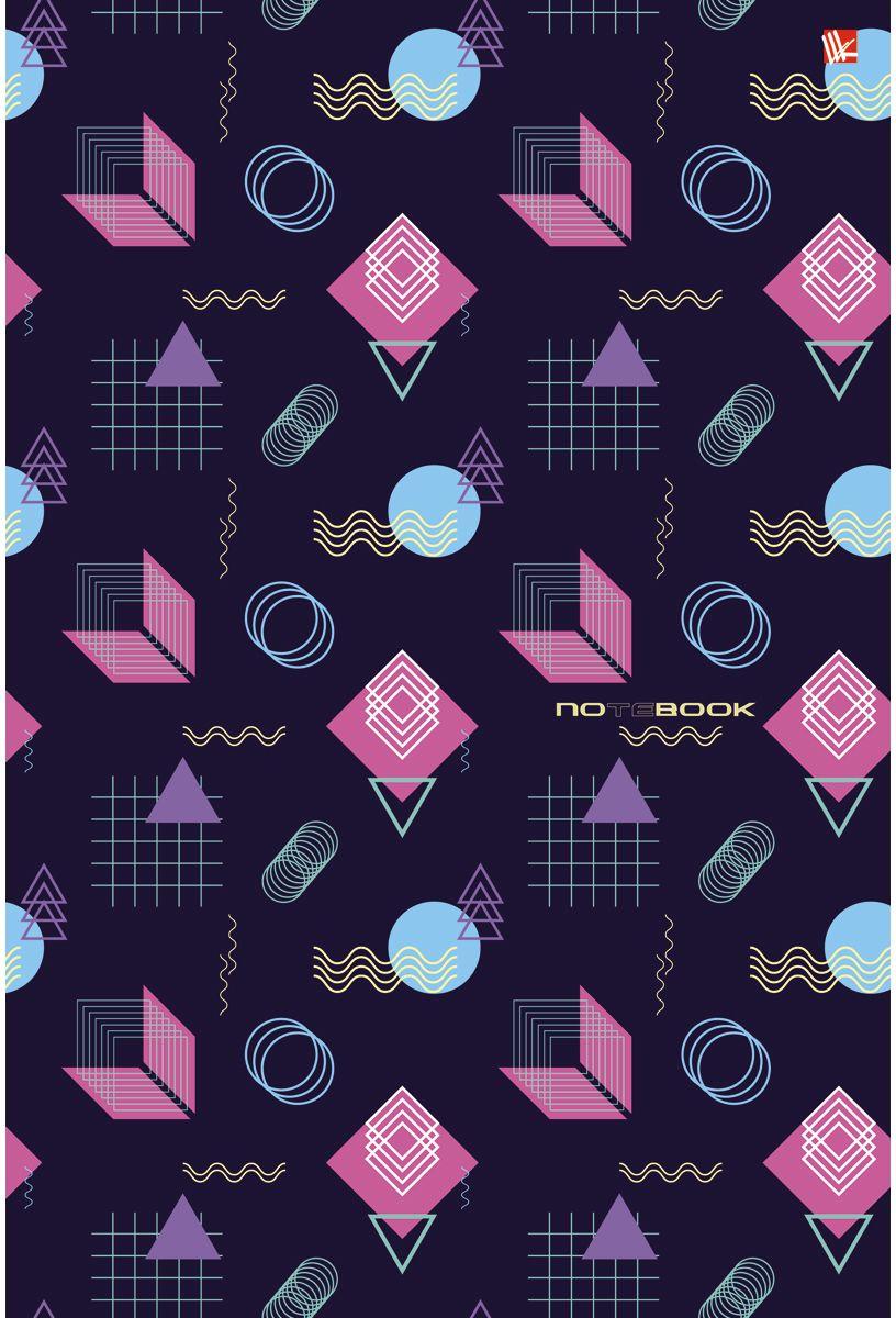 Канц-Эксмо Тетрадь Графика Геометрия 80 листов в клеткуТС4804210Тетрадь А4 80 листов на евроспирали, клетка. Обложка мелованный картон. Бумага офсет 60г/м2