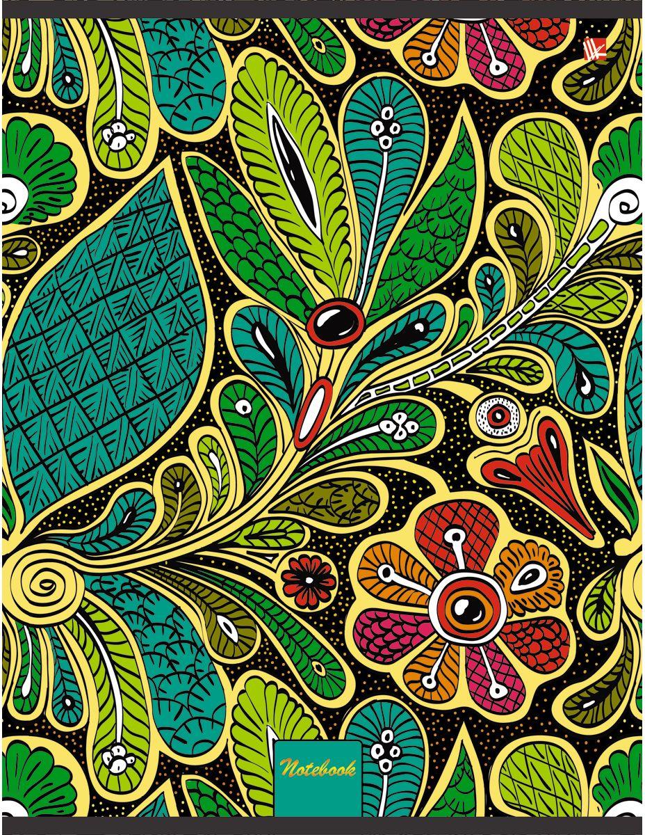 Канц-Эксмо Тетрадь Цветы Волшебный узор 96 листов в клеткуТФЛ4964259Тетрадь А4 96 листов на скрепке, клетка. Обложка мелованный картон с выборочным лакированием и тиснением фольгой, бумага офсет 60г/м2