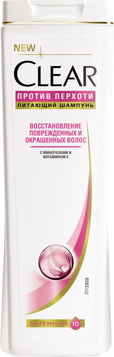 Clear vita ABE Шампунь женский Против перхоти Восстановление поврежденных и окрашенных волос 400 мл