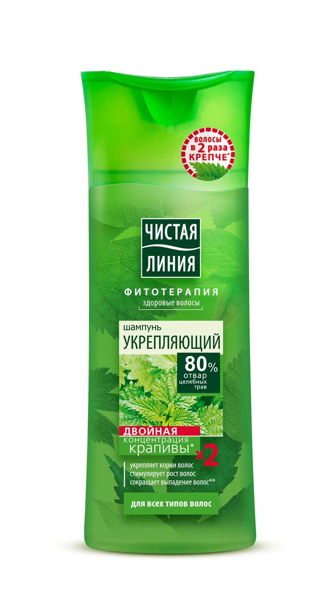 Чистая Линия Шампунь для всех типов волос На отваре целебных трав Крапива Укрепляющий 250 мл