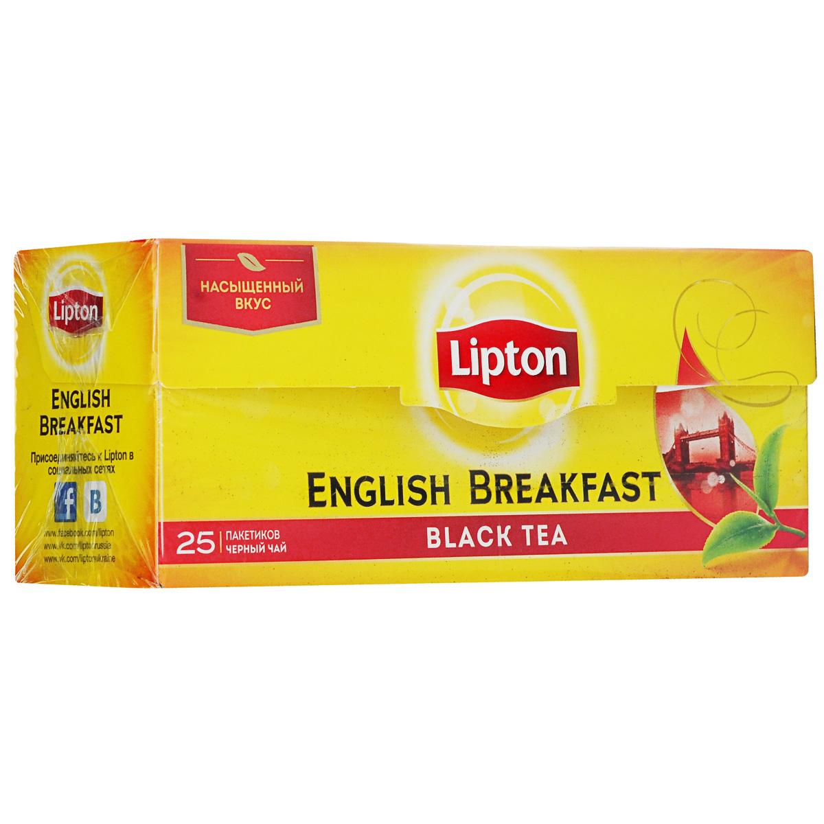 Lipton Черный чай English Breakfast 25 шт