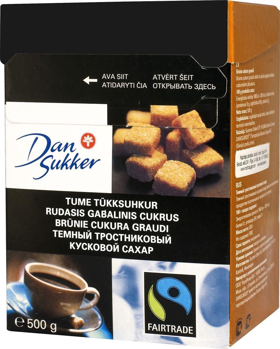 DanSukker сахар темный тростниковый кусковой, 500 г